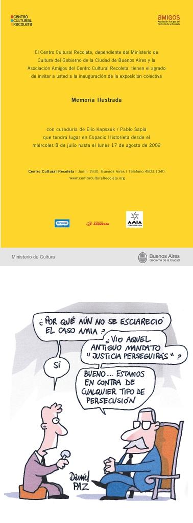 2009 Centro Cultural Recoleta Bs As Memoria Ilustrada