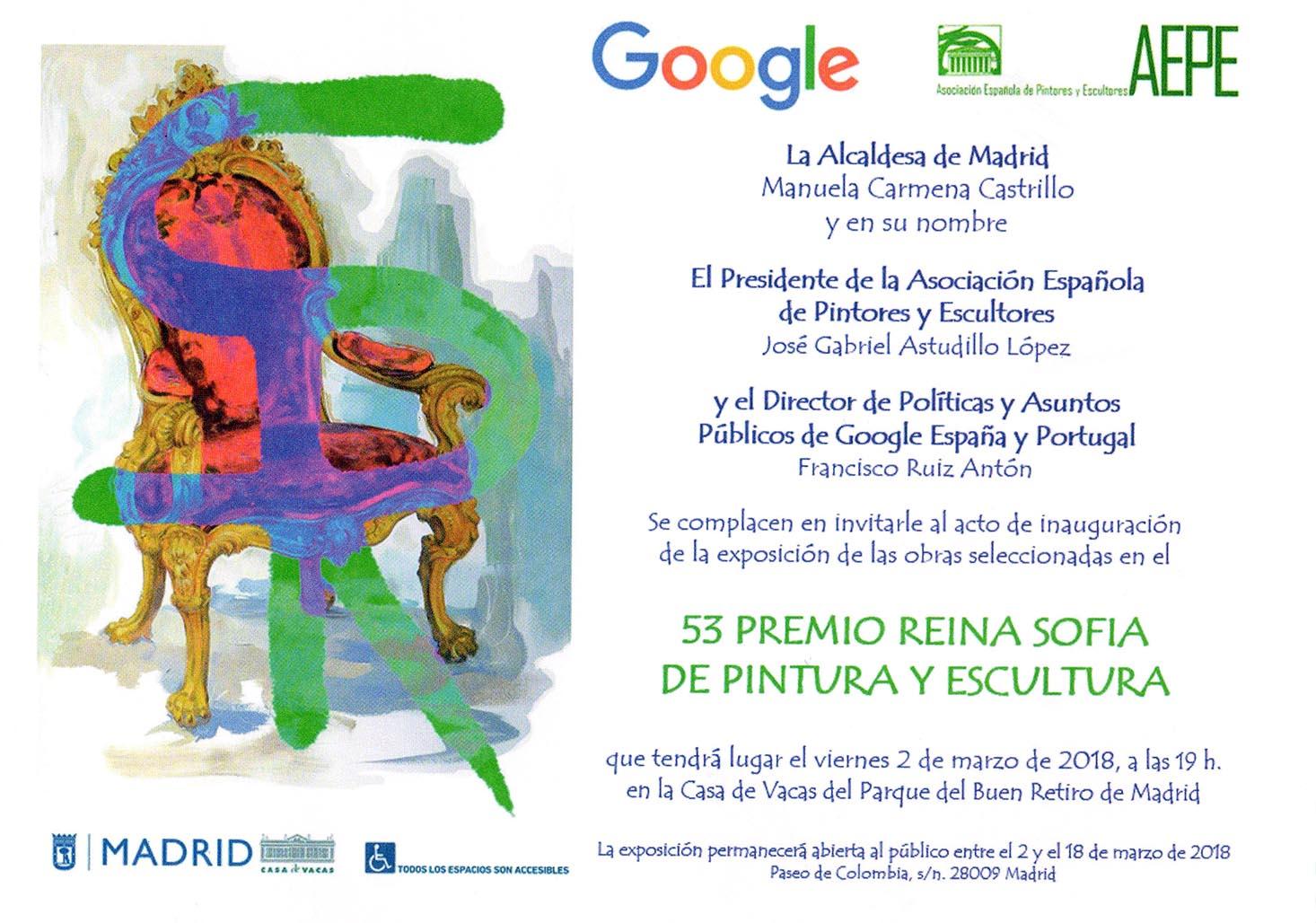Invitación 53 Premio Reina Sofía