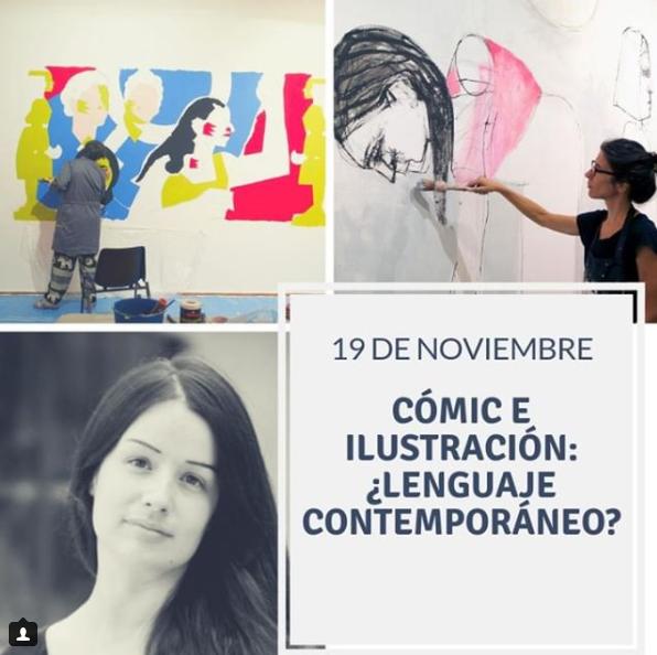 """Screenshot_2018-11-16 Casa de América en Instagram """"Vuelven nuestras charlas sobre ilustración con tres artistazas pintamon[...]"""