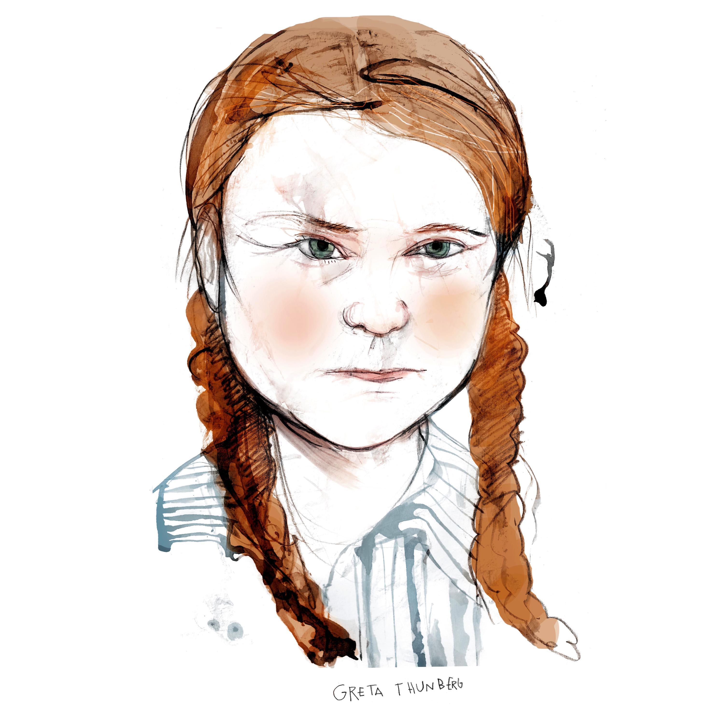 Greta Thunberg cuadrado